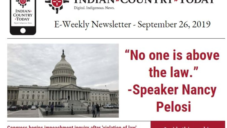 Indian Country Today E-Weekly Newsletter for September 26, 2019