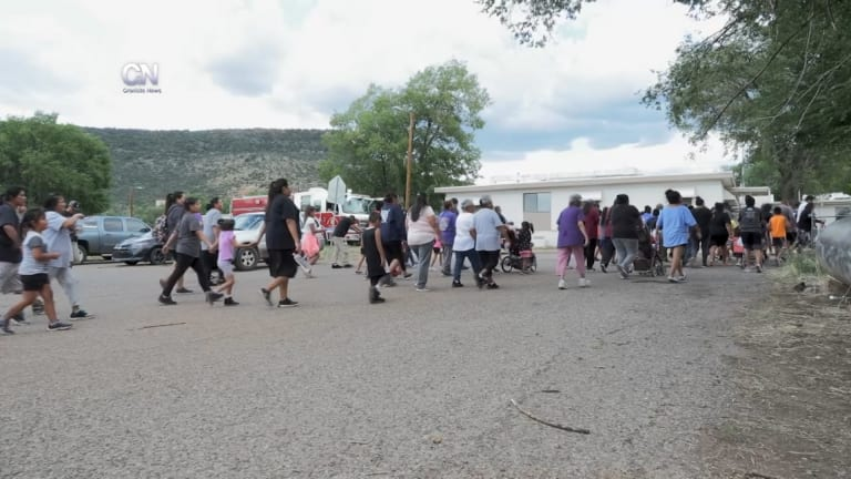 Video: White Mountain Apaches march to prevent suicide