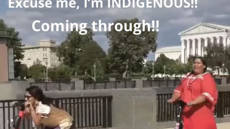 """Indigenous coming through!"" #IndigenousScooterSquad represent in DC"