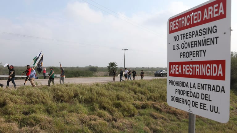 Carrizo-Comecrudo block construction on border wall with cease and desist order