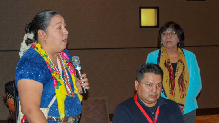 Navajo Nation Council Delegate Crotty presents at Violence Against Women Act Conference