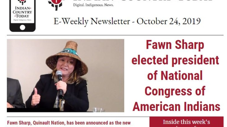 Indian Country Today E-Weekly Newsletter for October 24, 2019
