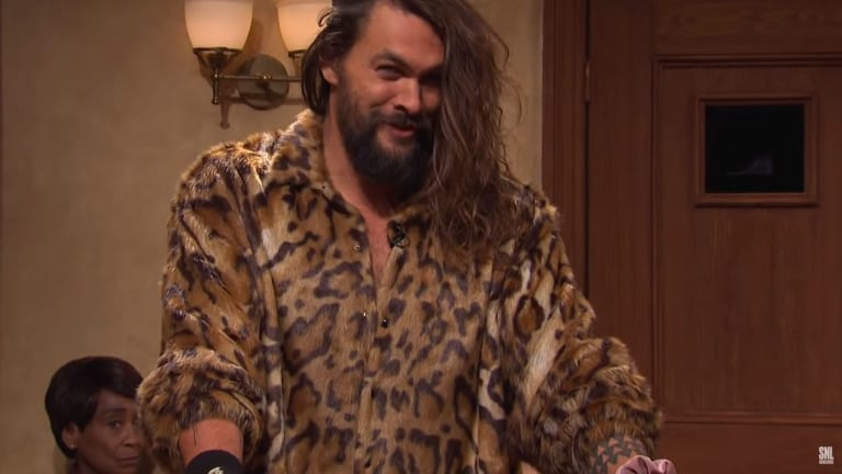 Jason Momoa hilariously goes head to head with Chance the Rapper on Saturday Night Live