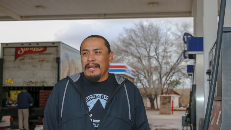 At a Navajo gas station ... the impeachment as history unfolds