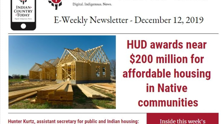 Indian Country Today E-Weekly Newsletter for December 12, 2019