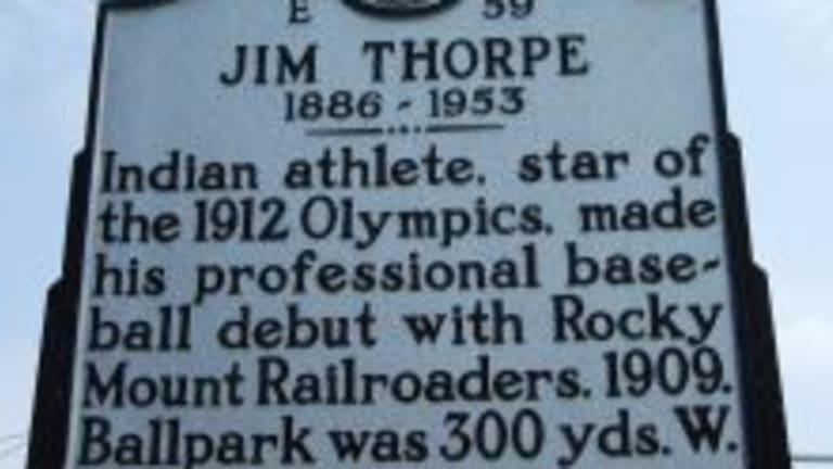 The missing Jim Thorpe sign