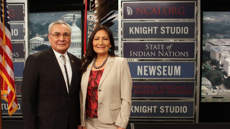 Jefferson Keel, Deb Haaland share inspirational words at State of Indian Nations