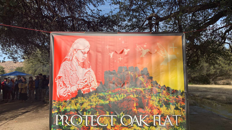 45-mile walk shows solidarity against a planned mine on land tribes consider sacred