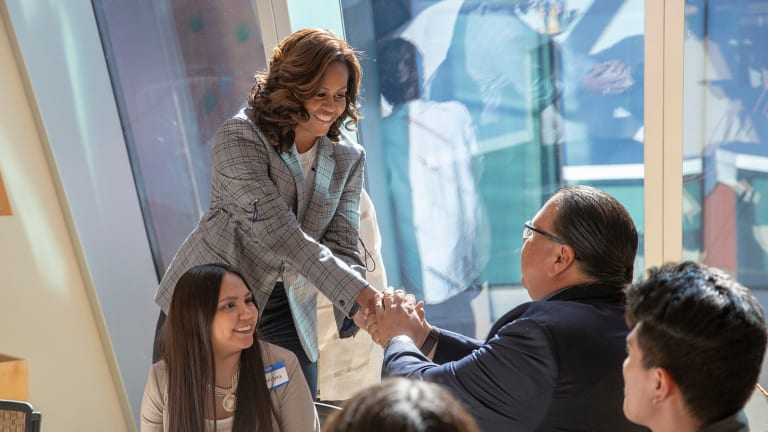 Michelle Obama surprises the Gila River Indian community with a visit