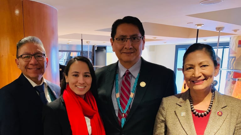 NavajoNation President and Vice President urge Congress to pass bill recognizing Native American Women