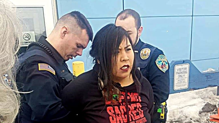 Inupiaq mom shouts 'Stand up! Fight back!' to Alaska governor, then is arrested
