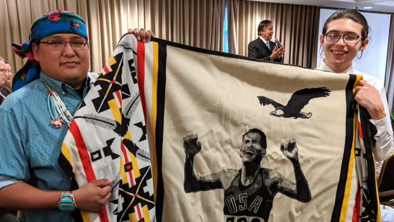 Olympian Billy Mills honors 10 Native youth $10,000 grantees at Dreamstarters ceremony