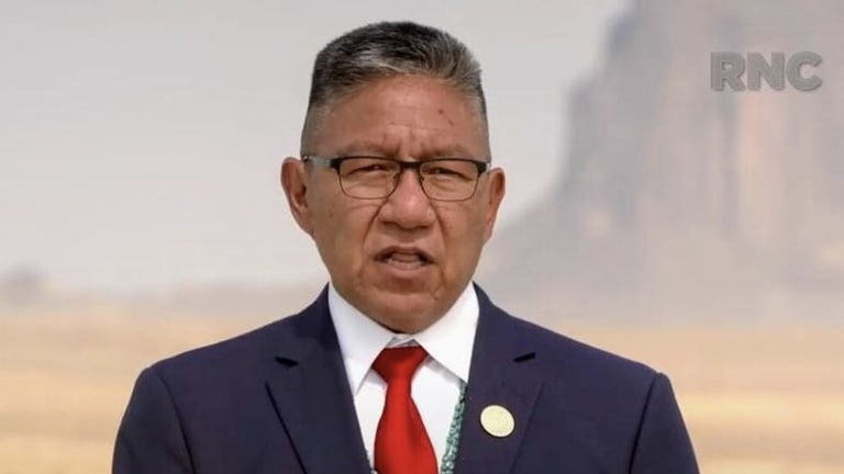 Navajo Nation Vice President Lizer speaks at the Republican National Convention