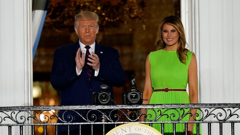 Donald Trump accepts nomination on White House stage