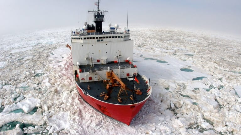 Nation's sole ice-breaker heads to Arctic