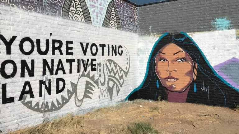 Apache artist expresses power of the Indigenous vote