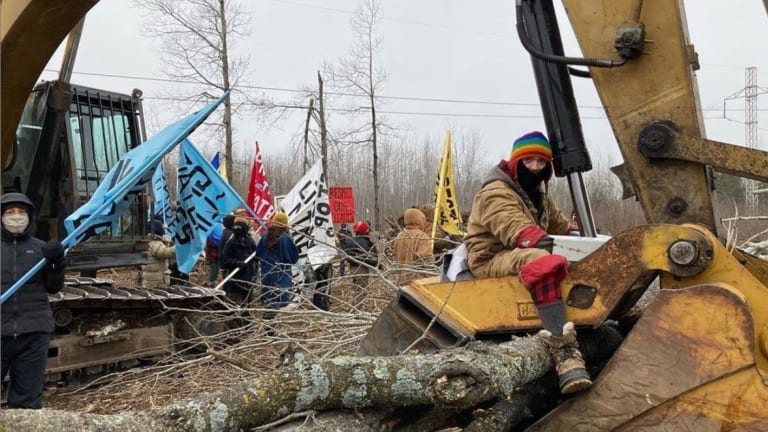 Water protectors, supporters oppose Line 3 pipeline
