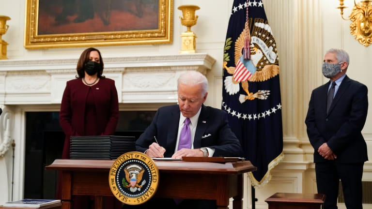 Biden vows enough vaccine for all adults by end of May