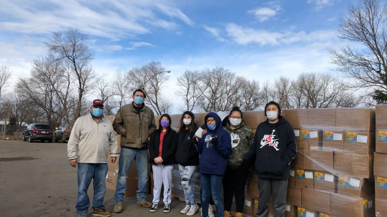 Cheyenne River Youth Project distributes 1,100 food boxes to Cheyenne River community