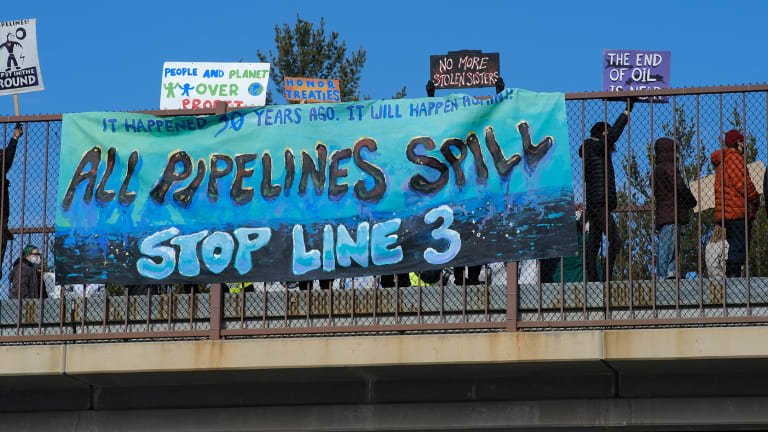 Indigenous youth rally against pipelines in DC
