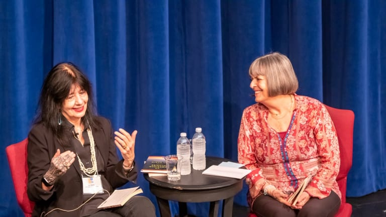 Joy Harjo: 'Words were materials – colors and flowers dancing on a page'