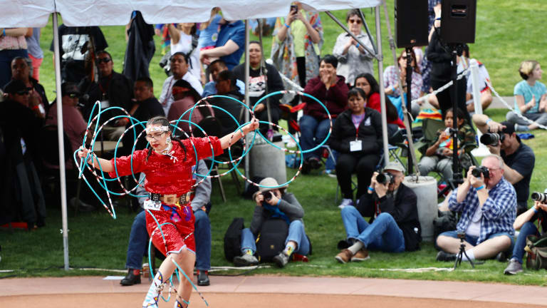 Hoop dancer faces the 'unthinkable' then family and friends step up