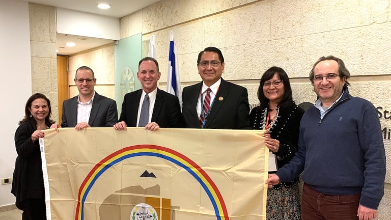Navajo Nation President Nez and First Lady meet with Israel Ministry of Foreign Affairs during cultural exchange visit