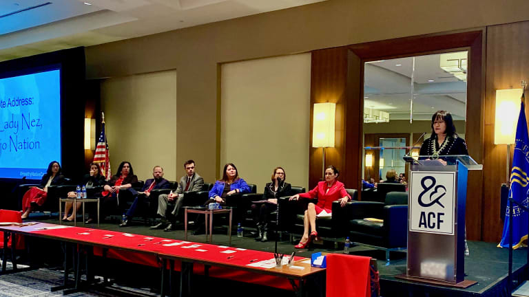 Navajo Nation First Lady Nez delivers message of hope at MMIW and human trafficking panel discussion