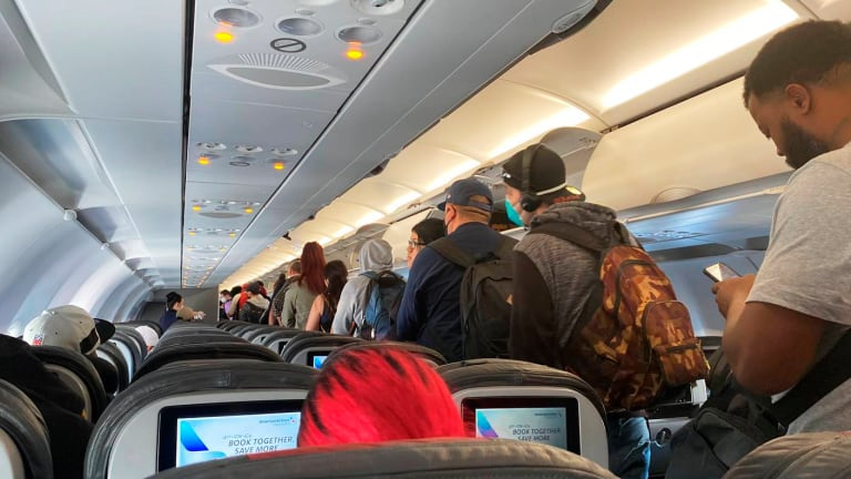 Why are some planes crowded even with air travel down?