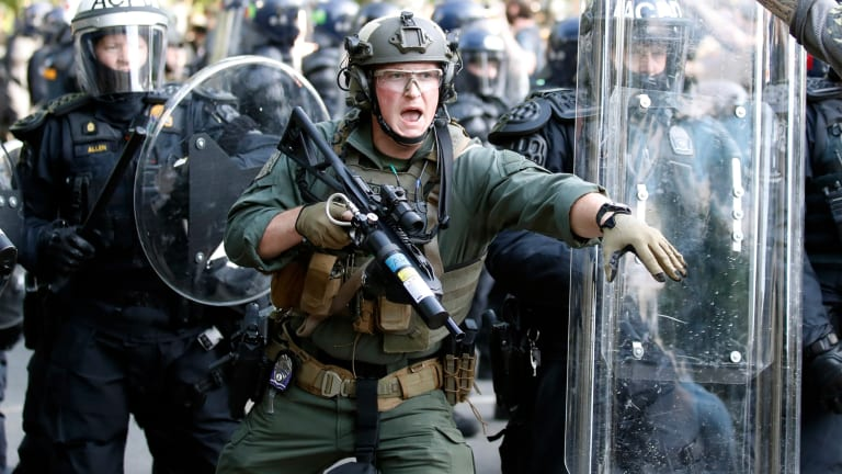 Night seven: More unrest, arrests, death and a president who says: 'Dominate the streets'