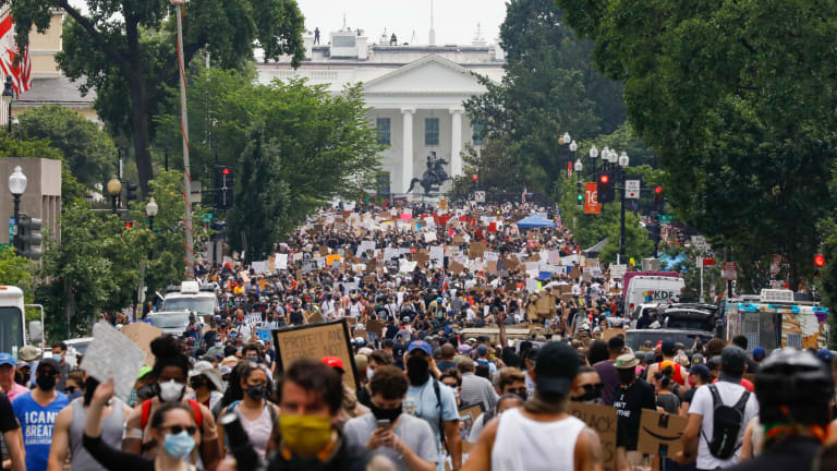 Protesters make massive, peaceful push for change