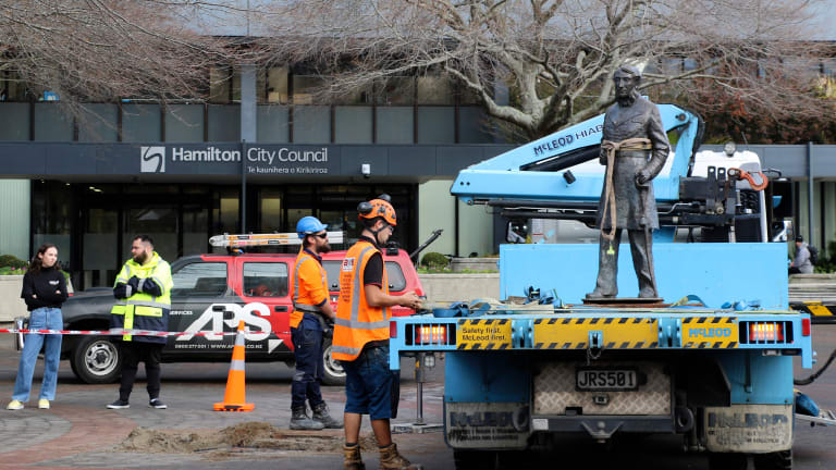 New Zealand city removes statue of its 'murderous' namesake