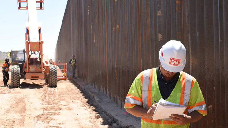 Marking 216 miles of the border wall