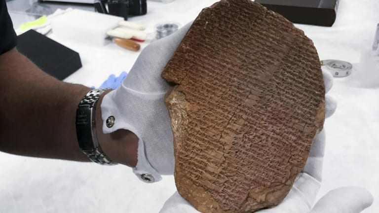 Ancient tablet going back to Iraq
