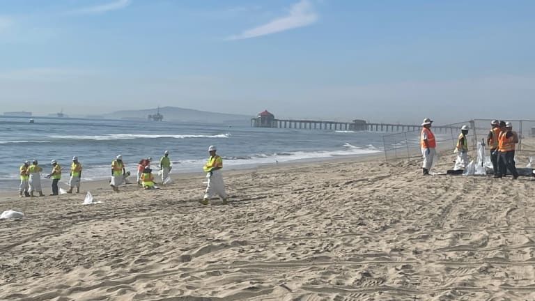 Officials investigating one of California's largest oil spills