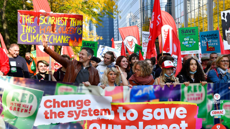 Thousands march in Brussels to demand tougher climate action