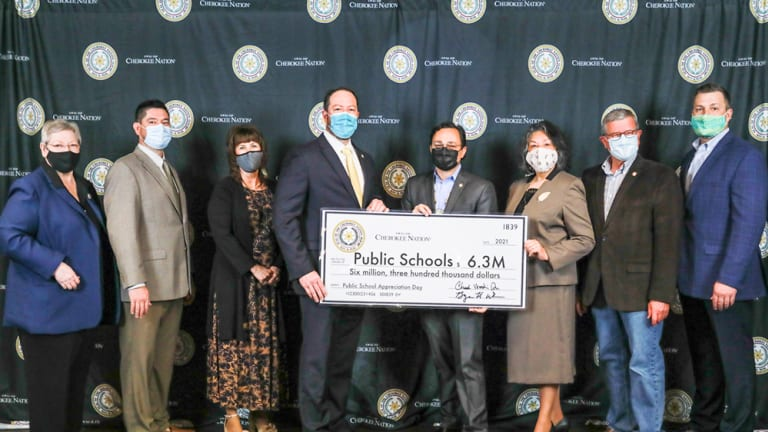 Cherokee Nation provides record $6.3 million to 107 school districts during virtual Public School Appreciation Day