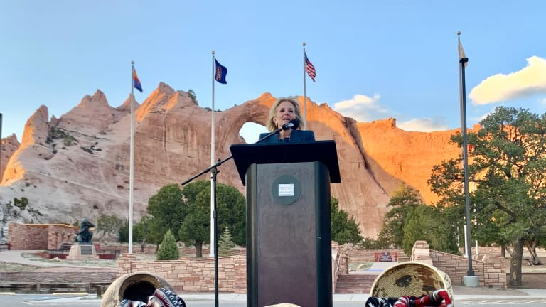 Navajo leaders welcome First Lady Jill Biden to the Navajo Nation