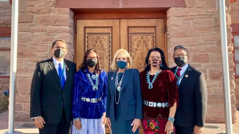 First Lady Biden concludes visit to the Navajo Nation