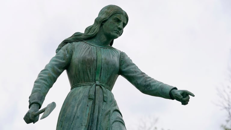 Statues to hatchet-wielding colonist reconsidered