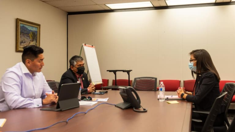 Navajo Nation Council Delegate Kee Allen Begay Jr. advocates for road and broadband projects with Arizona leaders