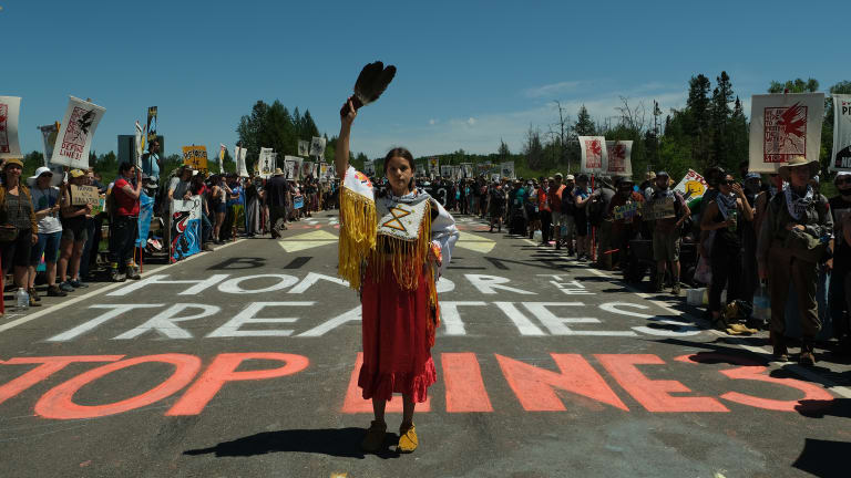 Protesters maintain blockade at oil pipeline site