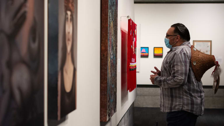 Exhibit combines influences of Native generations, contemporary issues
