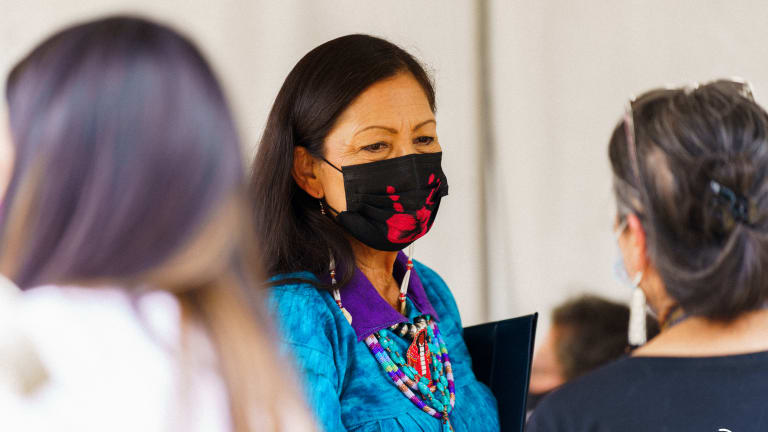 NDN Collective joins Red Road to DC, delivers totem pole to Secretary Deb Haaland