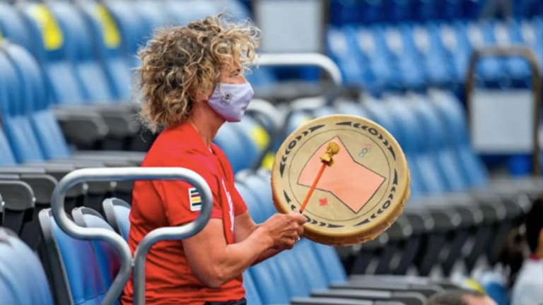 Squamish drum helped cheer on Canadian Olympians