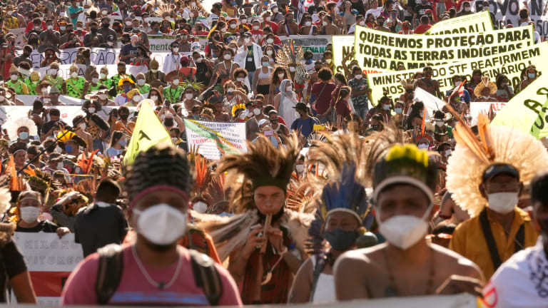 Brazil's Indigenous march to pressure court on land ruling