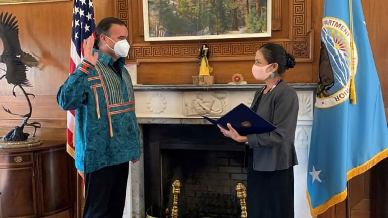 Bryan Newland ceremonially sworn in as Interior Department Assistant Secretary for Indian Affairs