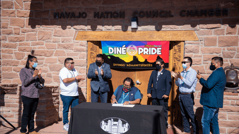 Navajo Nation Council establishes Diné Pride Week as the third week of June on the Navajo Nation