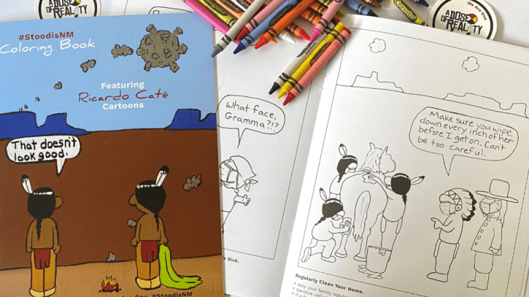New Mexico develops coloring book to address COVID-19 in tribal communities