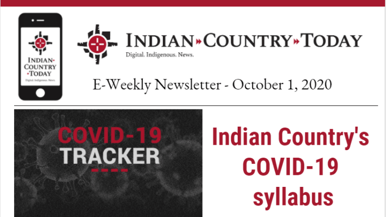 Indian Country Today E-Weekly Newsletter for October 1, 2020